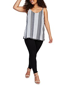 Plus Size Reversible Printed Sleeveless Top