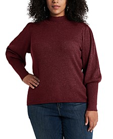 Trendy Plus Size Balloon-Sleeve Sweater