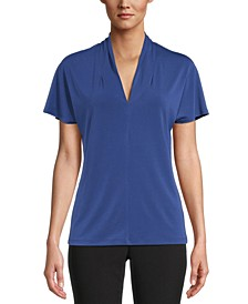V-Neck Flutter-Sleeve Top, Created For Macy's