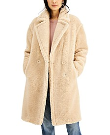 INC Fuzzy Coat, Created for Macy's