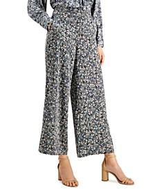 INC Printed Wide-Leg Pants, Created for Macy's