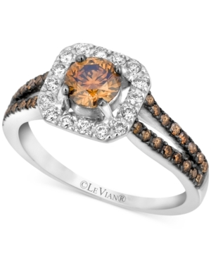 Le Vian Le Vian Chocolate and White Diamond Engagement Ring (1 ct. t.w.) in 14k White Gold