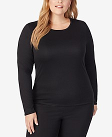 Plus Size Climatesmart® Long-Sleeve Crewneck Top