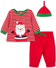 Little  Me Baby Boy and Girl Santa Jogger Set