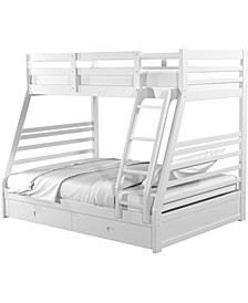 Laudrie Storage Twin Over Full Bunk Bed