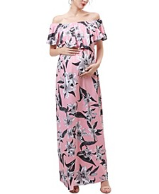 Clara Maternity or Nursing Floral Print Maxi Dress