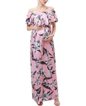 kimi + kai Clara Maternity or Nursing Floral Print Maxi Dress