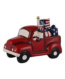 """10"""" Lit Patriotic Truck"""