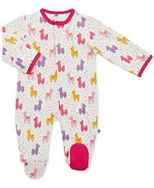 Baby Girl Pink Mama Llama Magnetic Footie