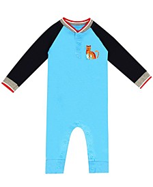 Earth Organic Baby Boy 1-Piece Caleb Coverall