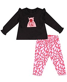 Earth Organic Baby Girl 2-Piece Sophia Legging Set