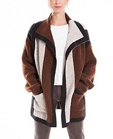 Colorblock Women's Sweater Coat (59% Off) -- Comparable Value $98