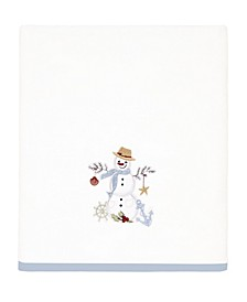 Coastal Snowman Bath Towel