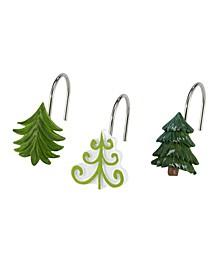 Christmas Trees Shower Hooks