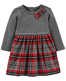 Baby Girl Holiday Plaid Bow Dress