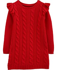 Toddler Girl Cable Knit Dress