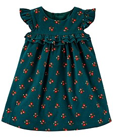 Baby Girl Floral Corduroy Dress