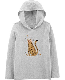 Big Girl Leopard Hooded Jersey Tee