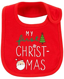 Baby Boy or Girl Christmas Teething Bib