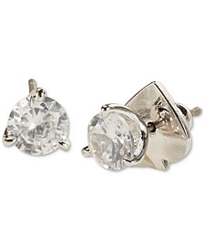 3-Prong Crystal Stud Earrings