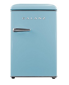 2.5 Cu.Ft Retro Single Door Refrigerator