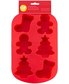 Stocking, Gingerbread Man & Tree Silicone Mold