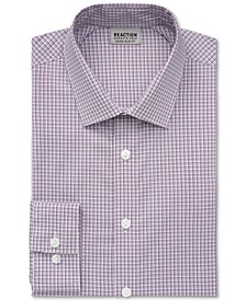 Men's Stay Crisp Extra-Slim Fit Performance Stretch Check Dress Shirt
