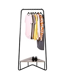 Corer Garment Rack with Wood Shelf