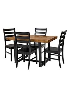 5 Piece Distressed Dining Set