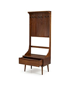 """68"""" Solid Wood Hall Tree With Drawer"""