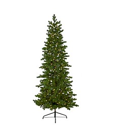 Big Sky Spruce Artificial Christmas Tree with 300 Clear Warm Multifunction LED Lights and 385 Bendable Branches