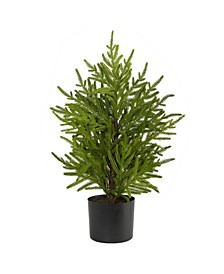 """Norfolk Island Pine """"Natural Look"""" Artificial Tree in Decorative Planter"""