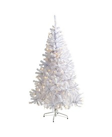 Artificial Christmas Tree with 680 Bendable Branches and 250 Clear LED Lights