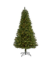 Virginia Fir Artificial Christmas Tree with 450 Clear Lights and 979 Bendable Branches