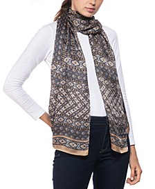 Panel Paisley Oblong Silk Scarf