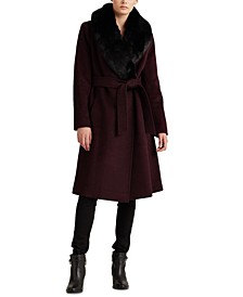 Wool-Blend Shawl Coat