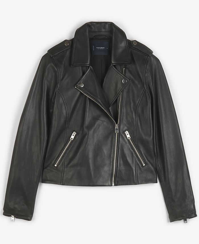 Lucky Brand - Leather Moto Jacket