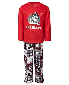 Matching Kids Cabin Patchwork Family Pajama Set, Created for Macy's