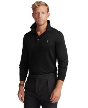 Polo Ralph Lauren Men's Big & Tall Soft Cotton Long-Sleeve Polo