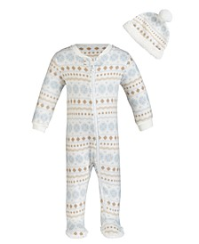 Baby Boy Footed Coverall Hat