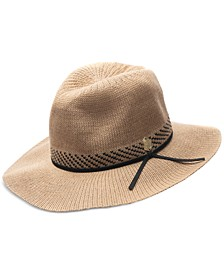 Women's Patterned Packable Panama Hat