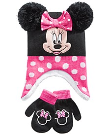 2-Pc. Minnie Mouse Hat & Mittens Set