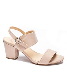 Women's Spot On Block Heel Sandals