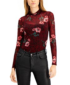 Printed Mock-Neck Bodysuit, Created for Macy's