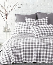 Elijah Gingham Quilt Set, Full/Queen