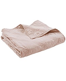 Home Washed Linen Quilted Throw