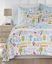Beach Days Quilt Set, King