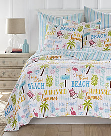 Homthreads Beach Days Quilt Set, King