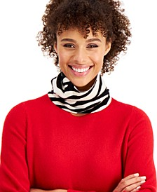 Cashmere Zebra Gaiter Facemask, Created for Macy's