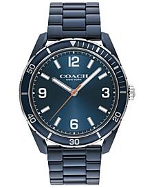Men's Preston Blue-Tone Bracelet Watch 44mm